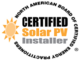NABCEP Certified Solar PV Installer Seal