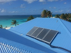 Shoal Bay Villas Solar Collectors